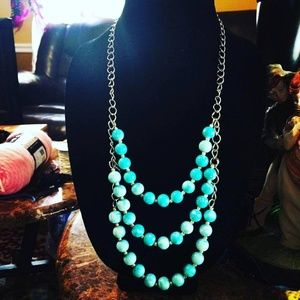 A triple turquoise necklace